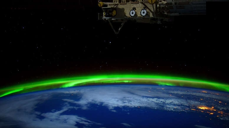 Aurora Borealis and Aurora Australis 4K footage from ISS