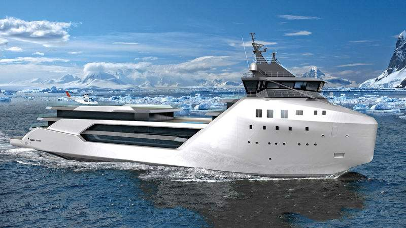 Luxury Yacht converted from a Container ship (4)