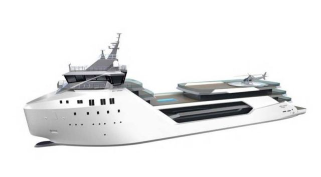 Luxury Yacht converted from a Container ship (2)