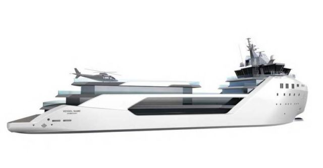 Luxury Yacht converted from a Container ship (1)