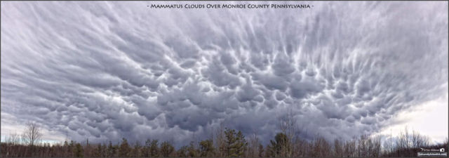 Mammatus Clouds Over Tobyhanna