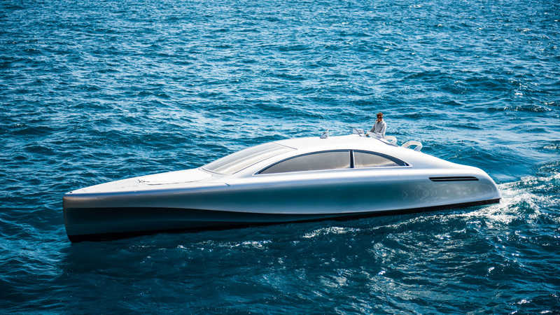 wordlesstech mercedes benz silver arrow motor yacht