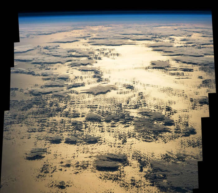 Morning Sun glint Over the Pacific