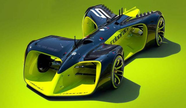 Roborace electric racing car