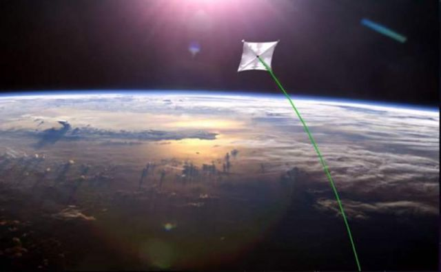 Nanocraft propelled by powerful laser beam