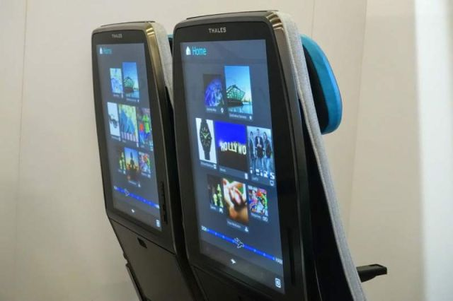 Thales Digital Sky giant seatback display