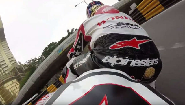 Motorcycle Racer at Macau track