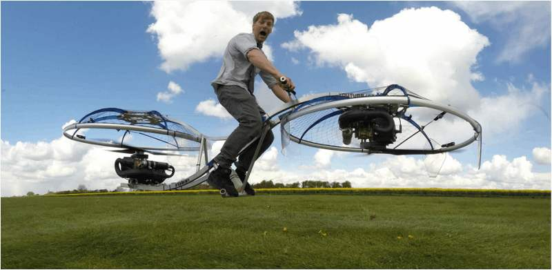 A crazy homemade hoverbike (2)