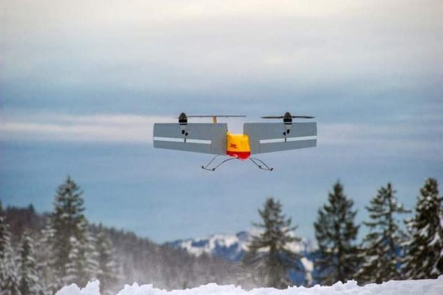 DHL Parcelcopter 3.0 Delivering Drone