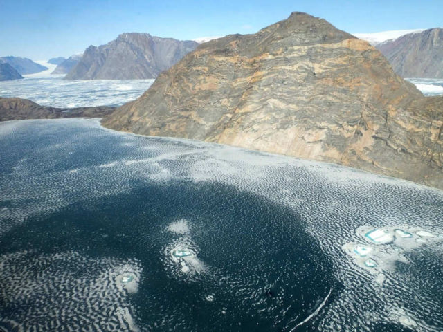 Fjord and Glacier in East-Central Greenland