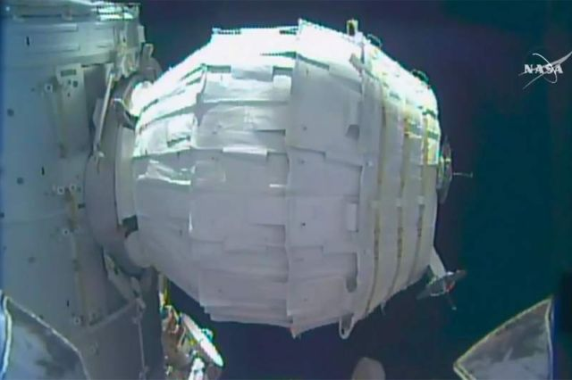 Inflatable Space Module successfully pops on ISS
