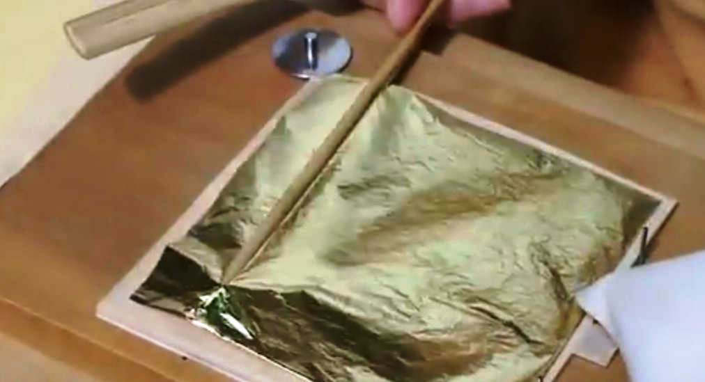 Making of the extremely thin Gold Leaf