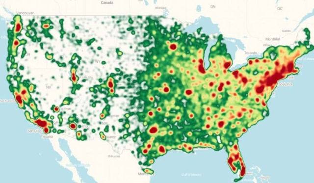 Map of all of America's Drone Users