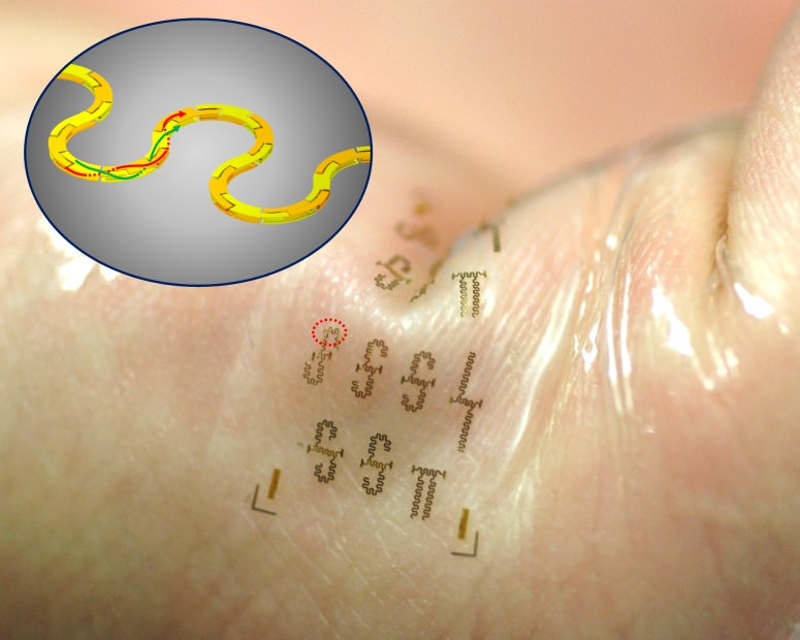 Nano stretchy circuits could be used in Wearable Electronics