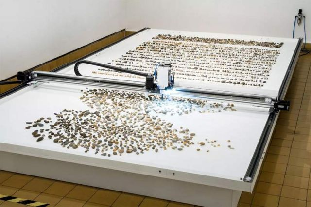 Robotic installation sorts Pebbles based on their Geological Age