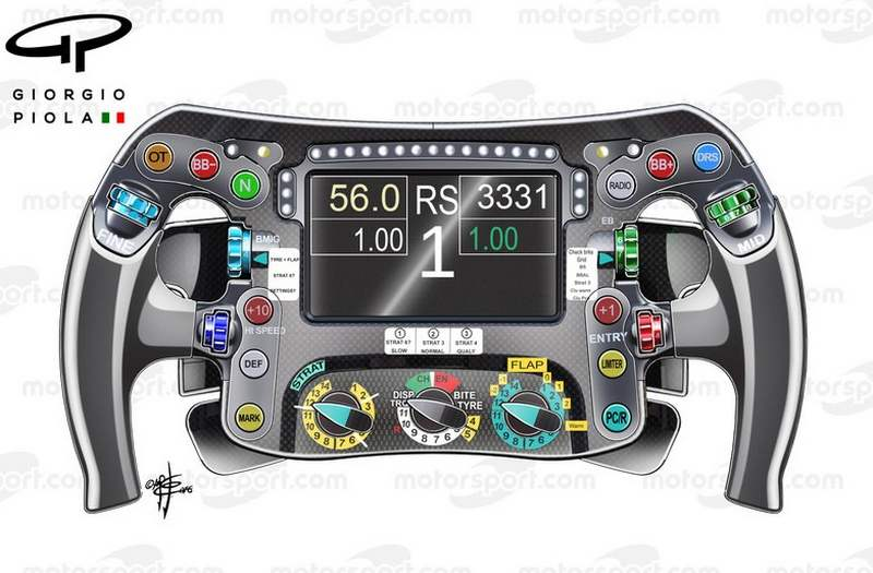 Mercedes F1 steering wheel
