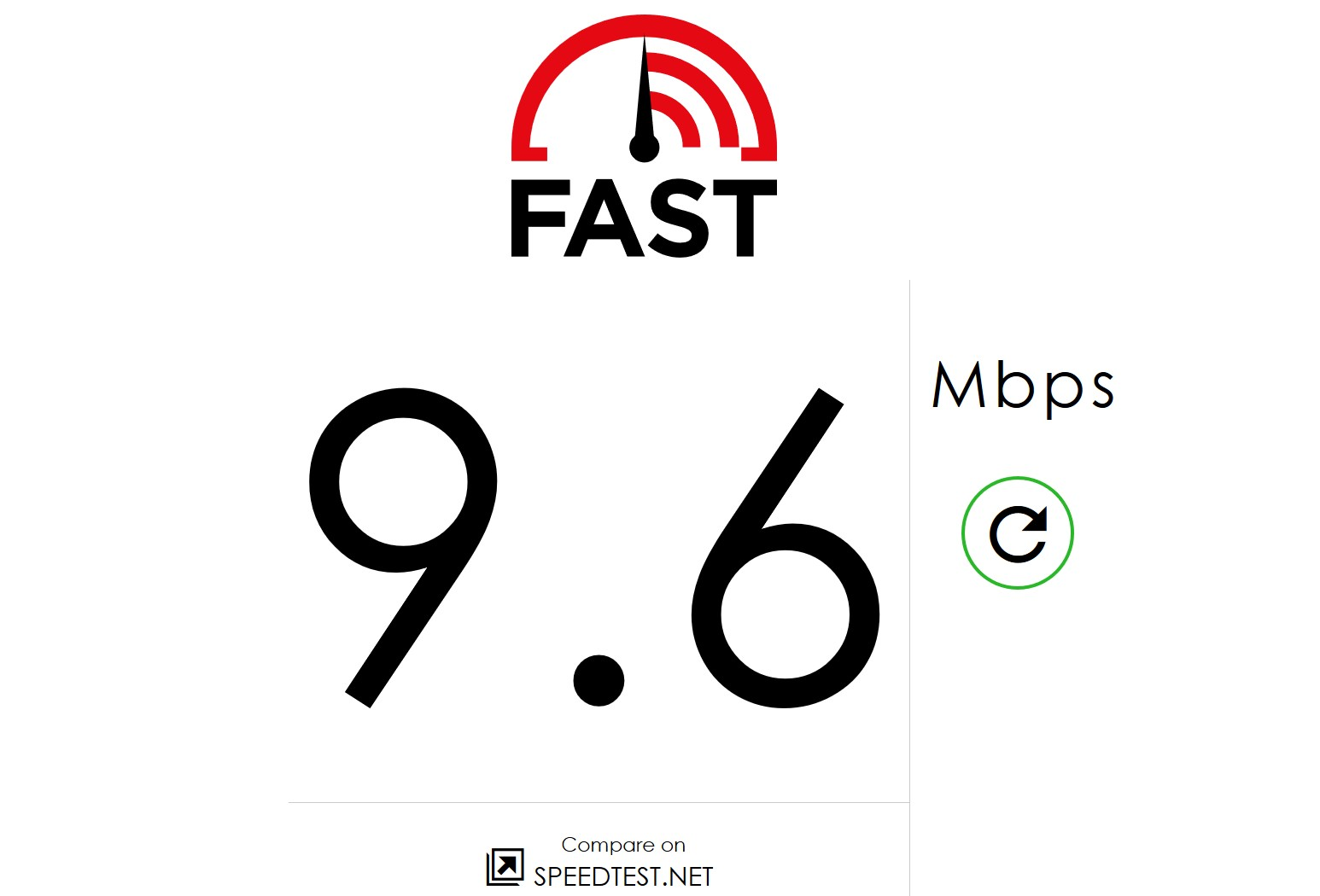 The simplest Internet download speed Test 1