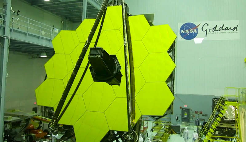 Tilting of Webb Telescope's Primary Mirror