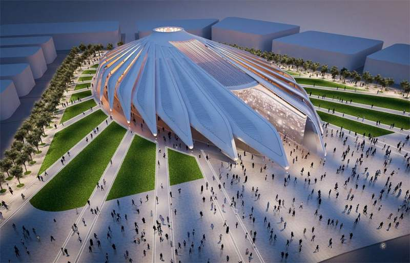 Winged Pavilion for Dubai Expo 2020 by Santiago Calatrava (4)