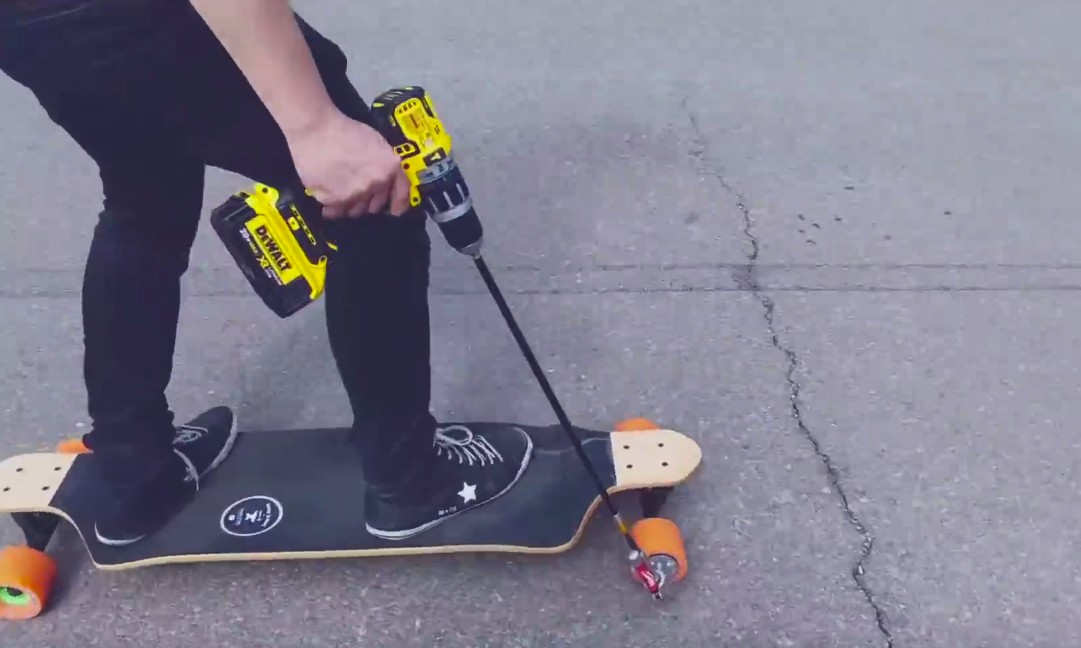 DIY electric powered Skateboard
