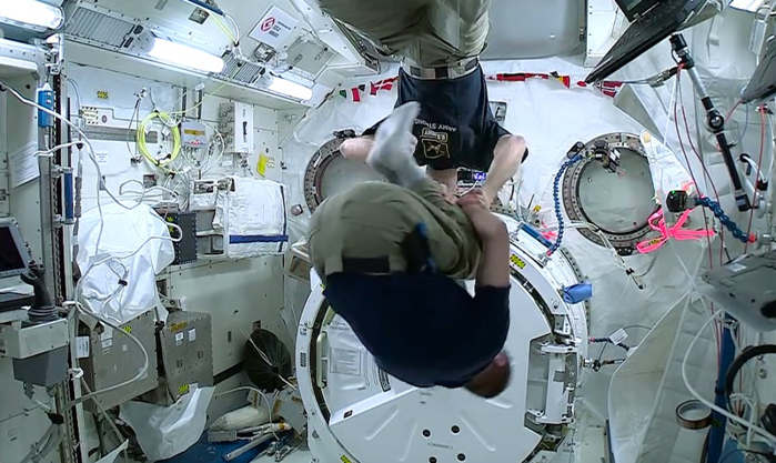 Dizziness Experiment in Space