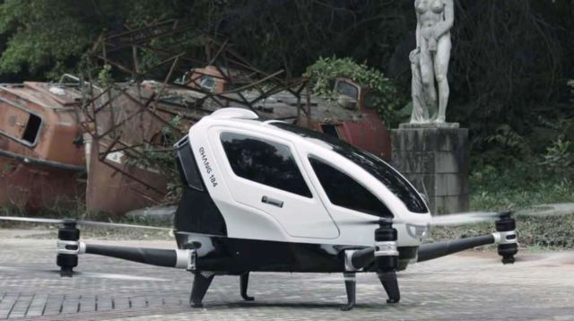 EHang184 got permission to test the person-carrying drone (1)