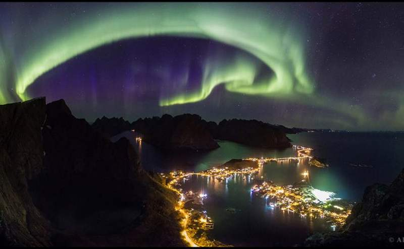 Northern Lights above Lofoten