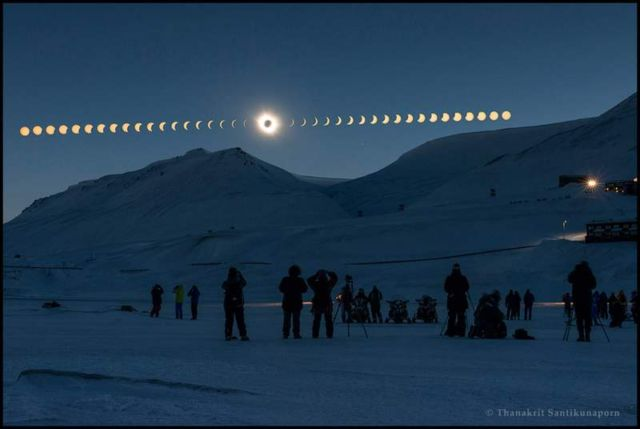 Total Solar Eclipse from Svalbard