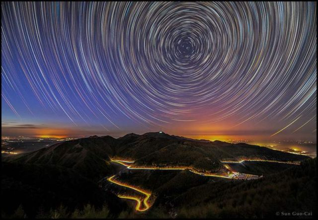 Mountain Liupan Startrails