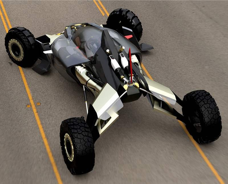... off-road buggy electric vehicle concept, with extreme off-road design