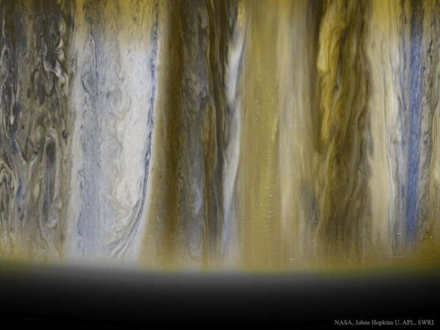 Jupiter's impressive Clouds from New Horizons
