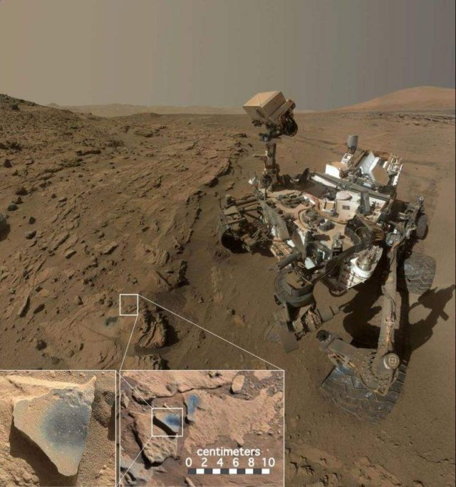 "Curiosity Mars rover at a location called ""Windjana"""