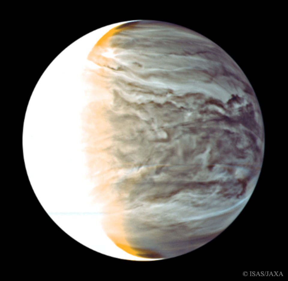 Night on Venus in Infrared