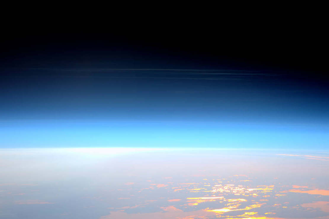 Noctilucent Clouds viewed from Space Station