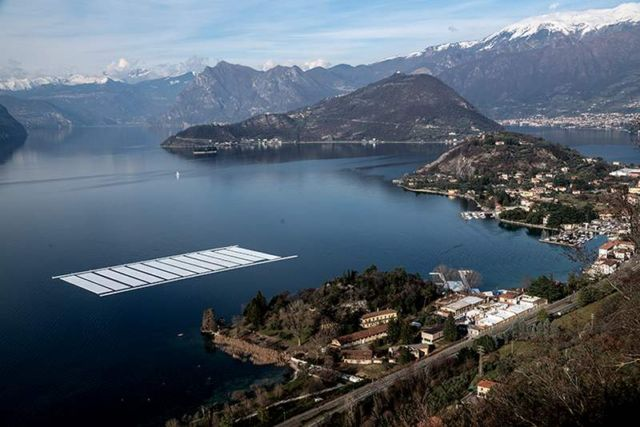 The Floating Piers in Italy (8)