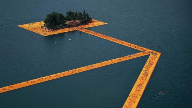 Floating Piers on Lake Iseo