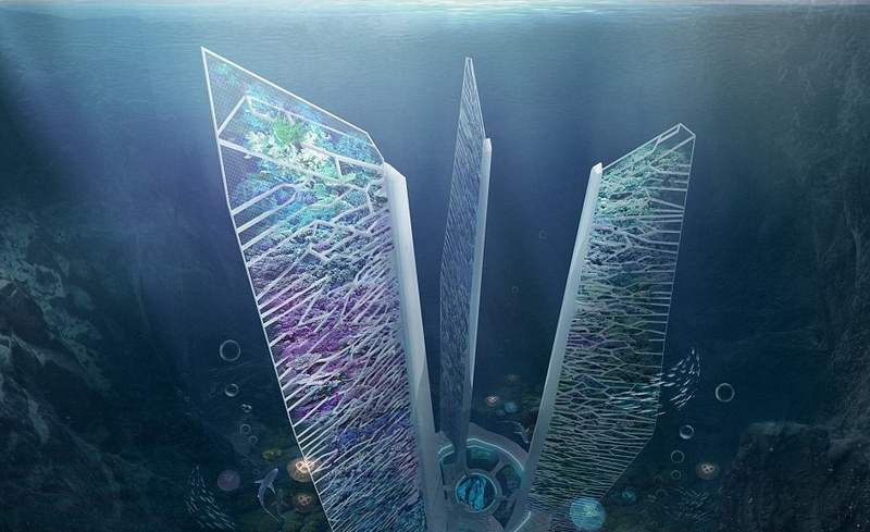 Underwater skyscrapers concept to revive coral reef (6)