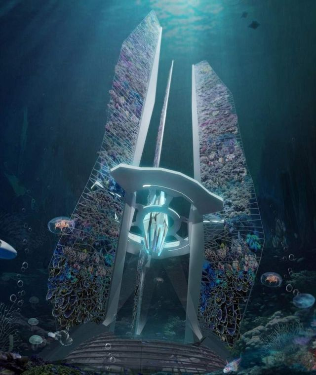 Underwater skyscrapers concept to revive coral reef (5)