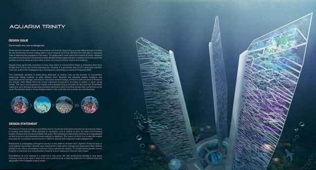 Underwater skyscrapers concept to revive coral reef (1)