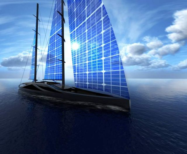 Wordlesstech 50 Meters Sailing Yacht With Solar Sails