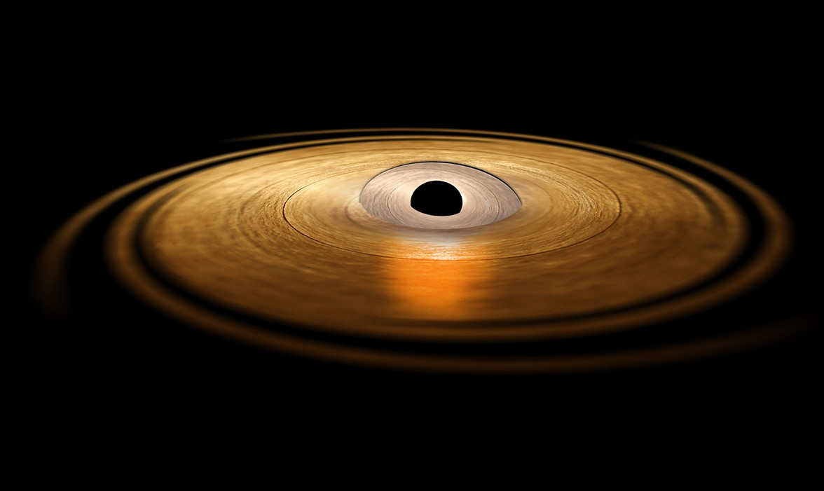 Detecting matter wobbling around a Black Hole for the first time