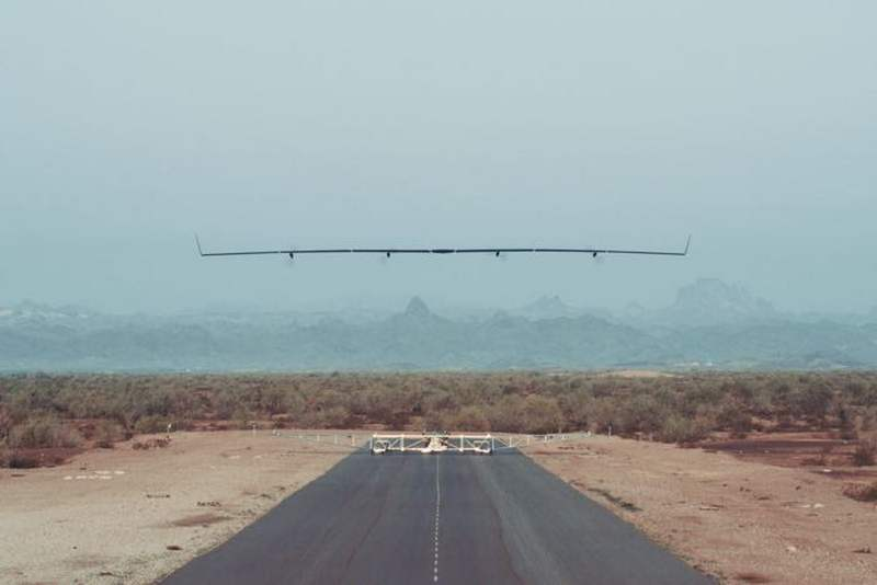 Facebook's Aquila solar airplane