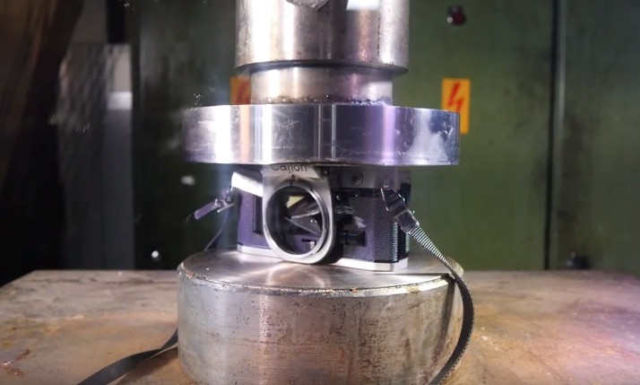 Making a Camera more Compact with Hydraulic Press (1)