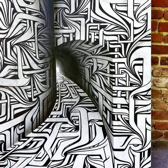 Optical Illusion Graffiti by Astro (5)