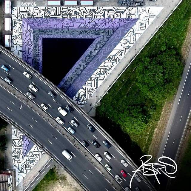 Optical Illusion Graffiti by Astro (4)