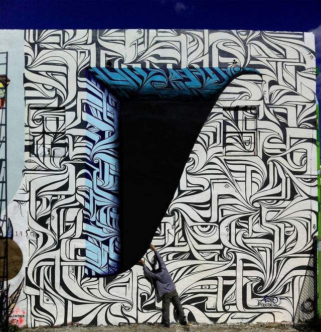 Optical Illusion Graffiti by Astro (3)