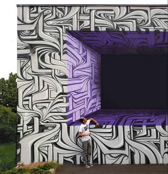 Optical Illusion Graffiti by Astro (2)
