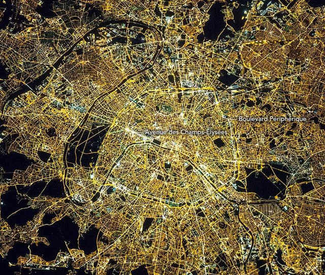 Paris at Midnight from ISS