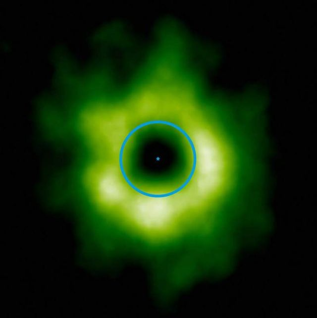 Snow discovered in an Infant Planetary System