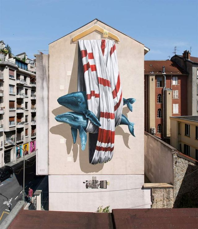 Towering Murals by Nevercrew